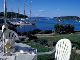 Restaurant at the Bar Harbor Inn and View of the Porcupine Islands  Maine  USA