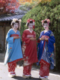 Apprentice Geisha (Maiko)  Women Dressed in Traditional Costume  Kimono  Kyoto  Honshu  Japan