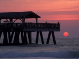 Sunrise at the Pier  Tybee Island  Georgia  USA