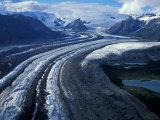 Mt Blackburn and the Wrangell-St Elias Mountains Above Kennicott and Root Glaciers  Alaska  USA