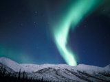 Curtains of Green Northern Lights Above the Brooks Range  Alaska  USA