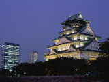 Osaka Castle and City Skyline  Osaka  Honshu  Japan