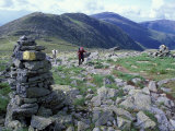 Backpacking on Gulfside Trail  Appalachian Trail  Mt Washington  New Hampshire  USA