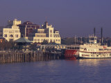 Paddlewheeler Natchez Docked at Riverwalk  New Orleans  Louisiana  USA