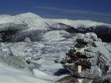 Appalachian Trail in Winter  White Mountains' Presidential Range  New Hampshire  USA