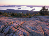 Grooves in the Granite on Summit of Cadillac Mountain  Acadia National Park  Maine  USA