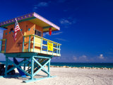 Life Guard Station  South Beach  Miami  Florida  USA