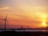 Wind Turbine in Hull  Boston  Massachusetts  USA