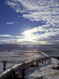 Trans-Alaska Pipeline in Winter  North Slope of the Brooks Range  Alaska  USA