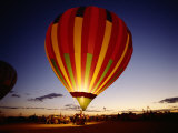 Dusk  Colorful Hot Air Balloon  Albuquerque  New Mexico  USA