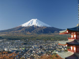 Pagoda and Mount Fuji  Honshu  Japan