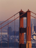 Golden Gate Bridge and San Francisco Skyline  California  USA
