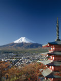 Pagoda and Mount Fuji  Honshu  Japan