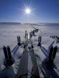 Trans-Alaska Pipeline From Prudhoe Bay to Valdez  Brooks Range  Alaska  USA