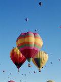 Colorful Hot Air Balloons in Sky  Albuquerque  New Mexico  USA