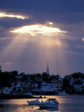 The North Church Rises Above Portsmouth  Piscataqua River  New Hampshire  USA