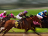 Thoroughbred Horses Racing at Keeneland Race Track  Lexington  Kentucky  USA