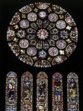 Rose Window of South Facade Chartres Cathedral Chartres France