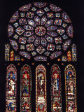 Rose Window of North Facade Chartres Cathedral Chartres France