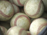 Close-up of Baseballs