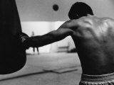 Monochromatic Image of a Boxer Working Out