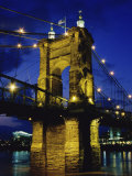 Roebling Suspension Bridge  Cincinnati  Ohio  USA