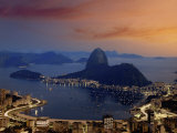 Sugar Loaf Mountain  Guanabara Bay  Rio de Janeiro  Brazil