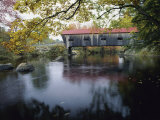 Tranquil Scene with Covered Bridge