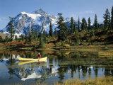 Picture Lake Mount Shuksan  Washington  USA