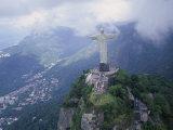 Christ the Redeemer Statue Mount Corcovado Rio de Janeiro  Brazil