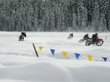 Motorcycle Racing in the Snow