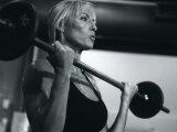 Blond Woman Weight Training