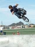Performing a Bicycle Stunt