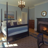 Bedroom with Four Poster Bed and Fireplace