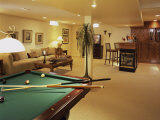 Living Room with Bar and Pool Table