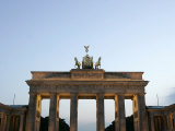 The Brandenburg Gate Glows in the Evening Light in Berlin