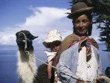 Aymara Indians Isla Del Sol Lake Titicaca  Bolivia