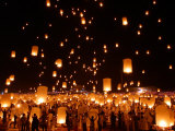 Hundreds of Lanterns are Released During a Memorial Service