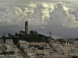 Storm Clouds Hover Over San Francisco's Coit Tower