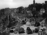 Tanks of the US 7th Army Rumble Through Nuremberg