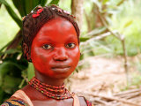 A Pygmy Woman is Seen at the Village of Mpha  Democratic Republic of Congo