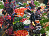 Colorful Vegetable Market in Chichicastenango  Guatemala