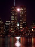 A Full Moon Rises Between New York&#39;s Twin Towers for the Second Time This Month