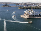 Ferries Pass the Sydney Opera House