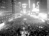 This Aerial View Shows New York&#39;s Times Square at Midnight