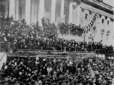 A Scene in Front of the Capitol During Lincoln's Second Inauguration 1865