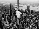 Construction for the Empire State Building's New 217 Foot Multiple Television Tower Papier Photo