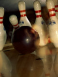 Bowling Ball Striking Pins