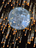 The Moon's Disk Seen During Fireworks Marking the Defender of the Fatherland Day