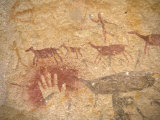 Ancient Paintings in Cave of the Hands  Santa Cruz Province  Patagonia  Argentina